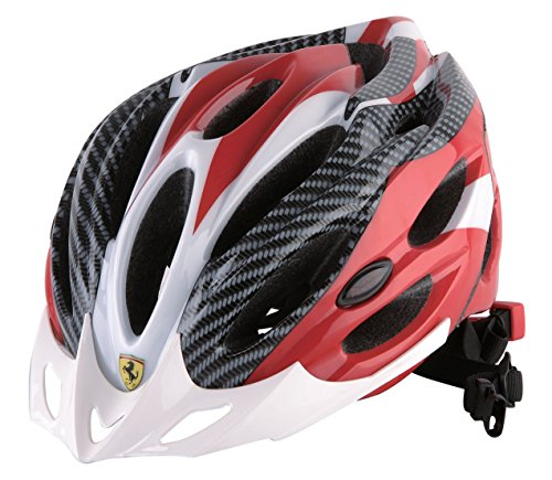 Ferrari Adult Sports Bicycle Cycling, Road/ Mountain Helmet, Protecting, Lightweight, White/Red. (Ferrari Road Bikes)