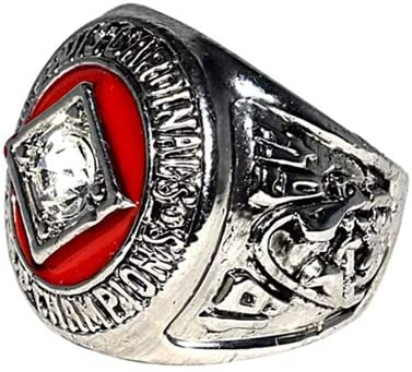 Vintage 1964 WORLD SERIES CHAMPIONS LOUIS CARDINALS Victory Vs. Yankees ST Rare /& Collectible High-Quality Replica Baseball Silver Championship Ring with Cherrywood Display Box