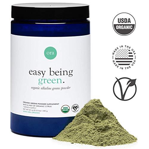 Ora Organic: Green Juice Superfood Powder - Vegan, Gluten-Free, Organic Green Detox Supplement - Antioxidants & Adaptogenic Herbs - 20+ Super Greens Vegetable Powder Blend - 30 Servings, Citrus Flavor