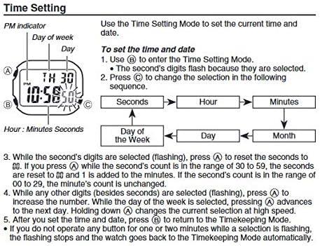 Casio Illuminator Stainless Steel Quartz Watch with Resin Strap BlueYellow 237 Model F108WH2A2CF