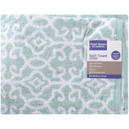 Loftex USA LLC Thick and Plush Jacquard Bath Collection Bath Towel, Aquifer/White