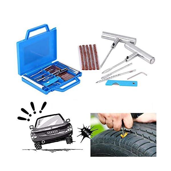 Shentesel Car Wheel Repair Tool Set Motorbike Tire Set Fix Kit Mending Accessories