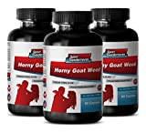 Natural male enchantment pills increase size and length - HORNY GOAT WEED (PREMIUM HERBAL BLEND) - Horny goat weed maca ginseng - 3 Bottles 180 Capsules