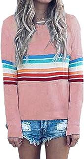 Semplice da Donna Casual Felpa Pullover Autunno Allentato Autunno Chic Girocollo Manica Lunga Top Ladies Fashion Camicetta Jumper T Shirt Basic Tempo Libero Moda Giovane Ragazza