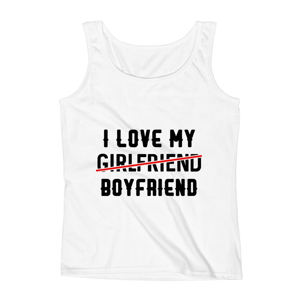 Mad Over Shirts I Love My Girlfriend Sorry Boyfriend Preferences Choice Rule Unisex Premium Tank Top