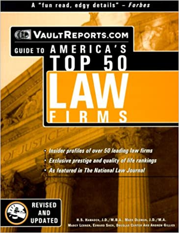 Buy Vault Com Guide to America's Top 50 Law Firms (Vault Guide to