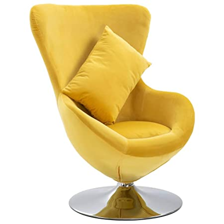 vidaXL Silla giratoria en Forma de Huevo con cojín, sillón ...
