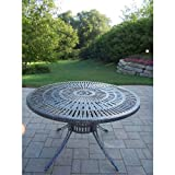 Best Oakland Living Ab Benches - Oakland Living Sunray Cast Aluminum Dining Table, 48-Inch Review