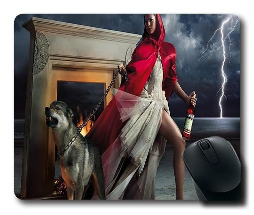 eva-mendes-as-little-red-riding-hood-in-campari-ad-gaming-mouse-pad-2201803mm-dimension-non-slip-rub