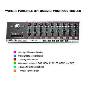 Worlde Portable mini USB MIDI Music Controller