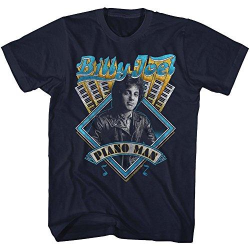 (American Classics Billy Joel Music Billy Joel Adult Short Sleeve T Shirt XL)