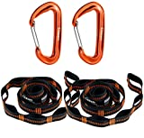 Gimars Hammock Straps are the best straps because of how easy and versatile they are to use. They fits Any Hammock.  Specification:  Each strap is 10 feet with 16 attachment loops so that you can have a more adjustable and easy setup. The loops being...