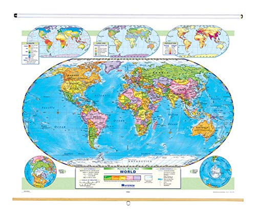 Nystrom Political Relief World - World Map Relief