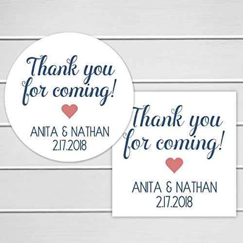 Thank You For Coming Labels, Favor Stickers, Event Party Stickers (#397)