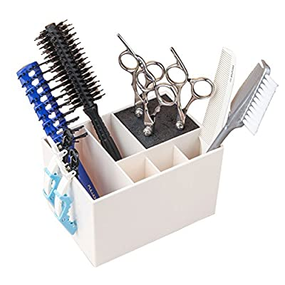 Ozzptuu Professional Salon Shear Holder for Stylist Scissors Rack Holder Case Hairdressing Combs Organizer Hair Clips Storage Box