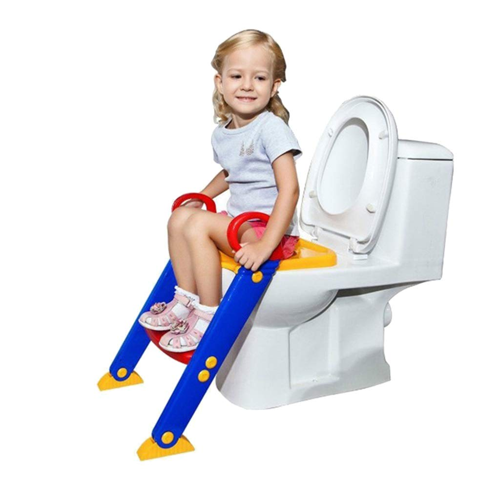 Child Toilet Ladder Seat, Adjustable Pedal Foldable Potty Training Seats for Boys Girls Aged 1-7 Years Old