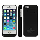 Bao Core BXT External Rechargeable Backup Extended Battery Charger Pack Case Cover for iPhone 5 5S 5C (2600mAh,Black)