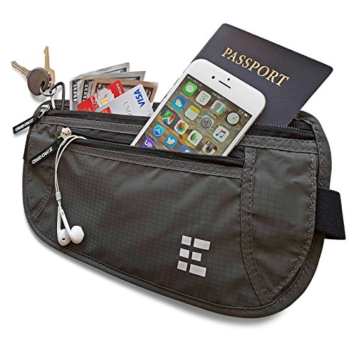Zero Grid Money Belt w/RFID Blocking - Concealed Travel Wallet & Passport - Marketplace International Stores