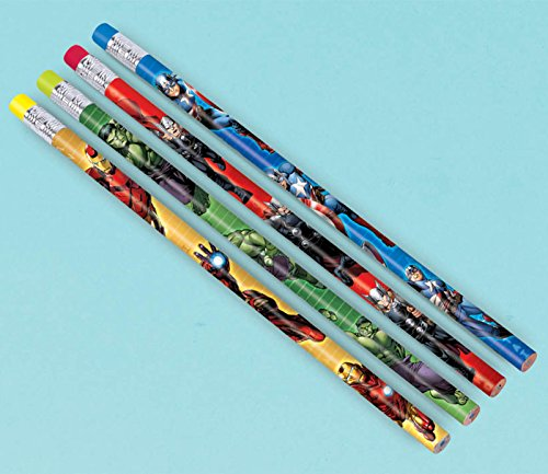 - 12-Piece Avengers Pencils, Multicolored