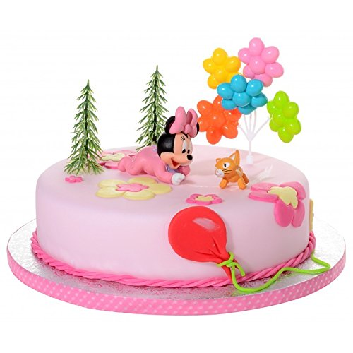 5 piezas para decorar tartas con la figura del bebé Minnie ...