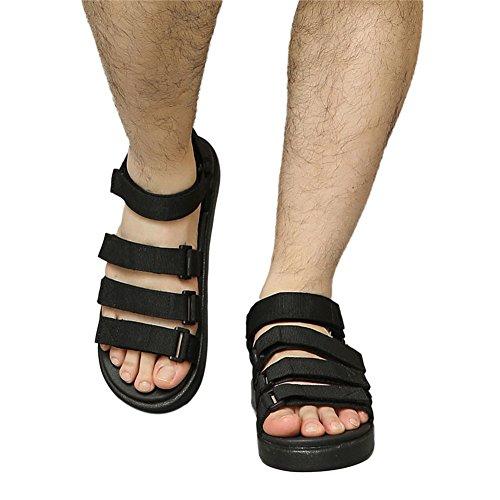 Haodasi Nero Scarpe Traspiranti Comfort Mens Sandali Da Sport Antiscivolo Classic Pantofole Spiaggia ZrAqZn