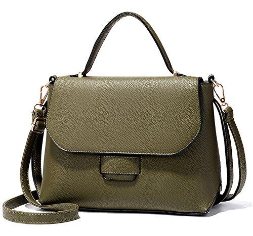 Bolsos de señora Xinmaoyuan Retro señoras tejer Spanning oblicua Pu Bolso de cadena simple conchas Green