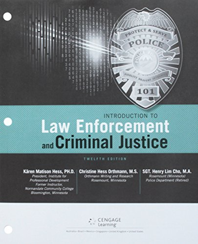 Bundle Introduction To Law Enforcement And Criminal Justice Loose Leaf Version 12th MindTap 1 Term 6 Months Printed Access Card