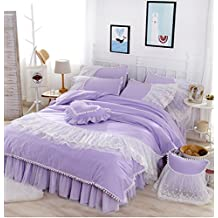 Generic Princess Bedding Set, Girls Bedding Set, Milliken Ball Duvet Cover Set, Purple Comforter Set, Twin 3-Pieces