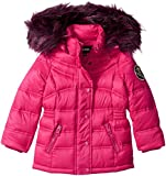 Diesel Toddler Girls' Outerwear Jacket (More Styles Available), Down Bubble-DS90H-Cherry/Wine, 3T