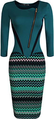 Jeansian Vestido De Temperamento Te Tendencia De Las Mujer Women Trend Temperament Dress WKD175 Green