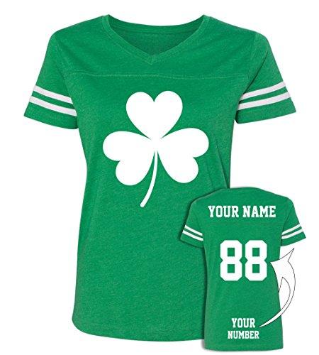 (Custom Jerseys St Patrick's Day T Shirts - Saint Pattys Jersey Tee & Irish Outfits )