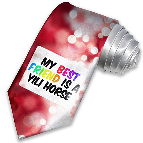 necktie-my-best-friend-a-yili-horse-christmas-tie-neonblond
