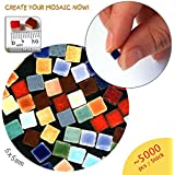 Mosaico Mini (5x5x3mm), 5.000 pezzi, colorati
