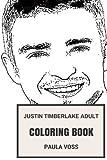 Justin Timberlake Adult Coloring Book: Teenage Symbol and Grammy Award Winner, Beautiful and Cute Artist and Entrepreneur Inspired Adult Coloring Book (Justin Timberlake Books)