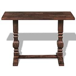 XINGLIEU piedistallo tavolo consolle in legno massiccio 100x 40x 75cm salotto