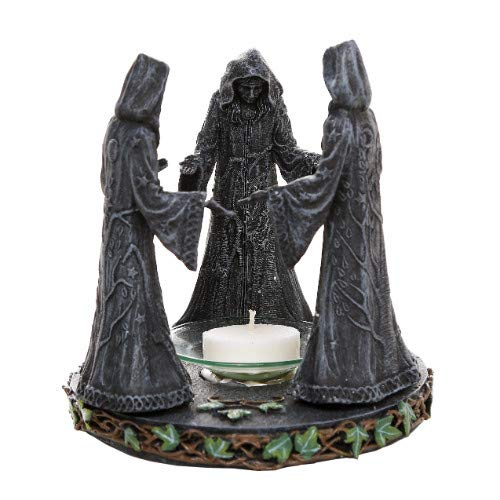 Gift2Smile Exclusive! Triple Goddess Maiden Expectant Mother & Crone Pagan Decorative Candle Holder Oil Wax Warmer Diffuser Figurine 5.75