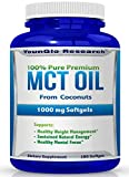 MCT Oil Capsules 100% from Coconuts - 1000 mg 180 Softgels - Keto Friendly - Great Pills for Energy and Weight Management (1 Pack)