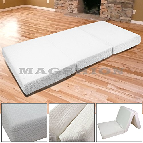 Magshion Memory Foam Mattresses Folding Bed (Twin 39'', White)