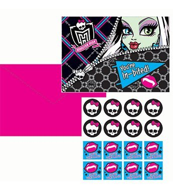 Monster High Invitations - 8 Counts -