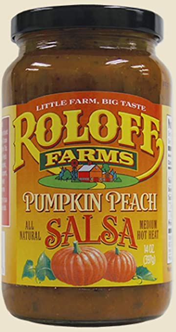 Roloff Farms Pumpkin Peach Salsa, 14 Ounce, 3 Pack
