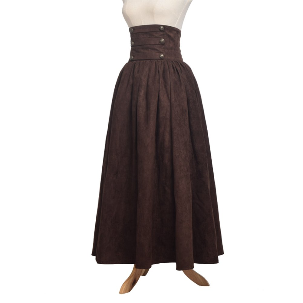 Steampunk Skirts | Bustle Skirts, Lace Skirts, Ruffle Skirts BLESSUME Gothic Skirt Lolita Steampunk High Waist Walking Skirt $54.99 AT vintagedancer.com