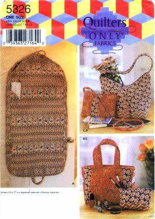 Simplicity 5326 Sewing Pattern Quilter's Only Purse Tote ...