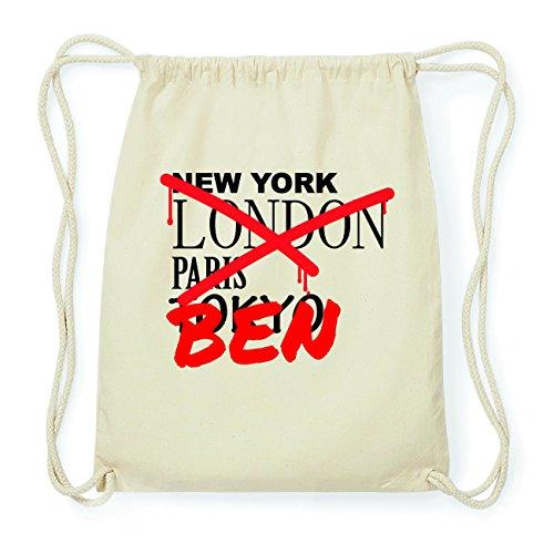 JOllify BEN Hipster Turnbeutel Tasche Rucksack aus Baumwolle - Farbe: natur Design: Grafitti Aelhrvt