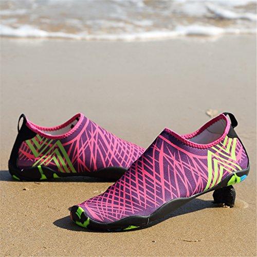 Aqua de para la Rosa Saguaro Playa Resaca Skin de de la Roja 4 Nadada Shoes Descalzo Calcetines acuático de la Yoga WIBFW