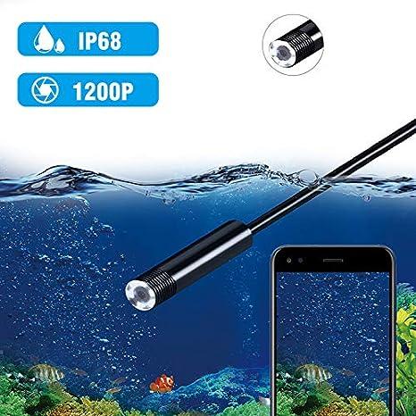 Fancartuk Cam/éra dinspection sans Fil 2.0 MP 720p//1200 P HD WiFi Endoscope IP68 /étanche sans Fil Cam/éra dinspection pour iOS//Android//Winodws//Mac 1M