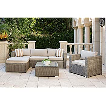 Amazon.com: Solaura Outdoor Furniture Set 6-Piece Wikcer