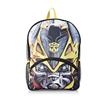 """Backpack - Transformers - Big Face Bumblebee 16"""" w/Lights New841512"""