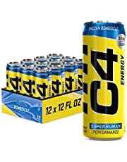 C4 Energy Drink 12oz (Pack of 12) - Frozen Bombsicle - Sugar Free Pre Workout Performance Drink with No Artificial Colors or Dyes
