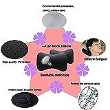 Ksjfeowfk 2pcs Leather Car Seat Pillow Breathable