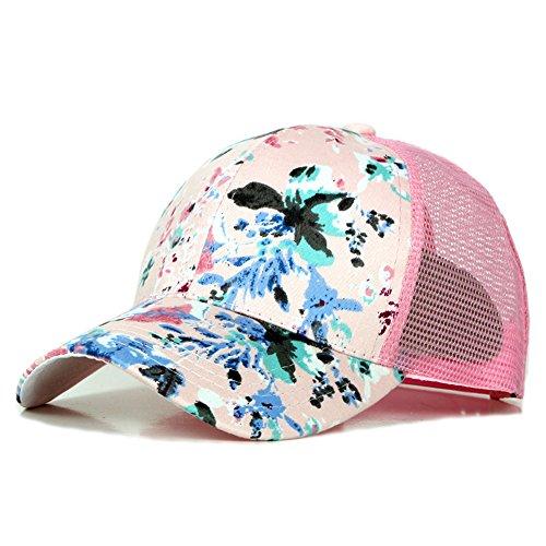 Rosa de gorra EXTERIOR ocio visor de Tapa hat béisbol pato sombreros Navidad Pink Halloween beanie lengua flor sombrero MASTER 60BT4T